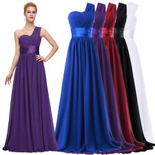2016 Sexy Women One Shoulder Long Evening Prom Party Bridesmaid Dress Plus Size