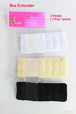 1Pack -3 Assorted Colors, BRA Extender Comfy,Easy,Stretchy - 2 Hooks or 3 Hooks