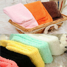 Women Bed Socks Pure Color Fluffy Warm Winter Kids Gift Soft Floor Home New