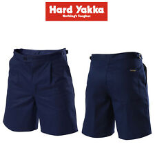 Mens Hard Yakka Foundations Utility Long Leg Shorts Strong Drill Work Y05537