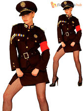 Ladies Marlene Officer Costume Adults WW2 Army Soldier Fancy Dress WWII Outfit
