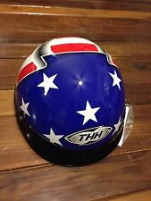 THH DOT MOTORCYCLE HALF HELMET SKID LID DOME CARBON WHITE SILVER BLACK FLAMES