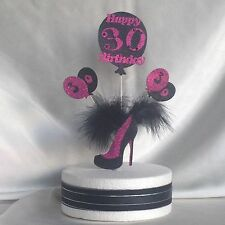 Feather Birthday Cake Topper Handbag Or Shoe 18th 21st 25th 30th 40th 50th - 99