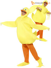 Adults Duck Costume Mens Ladies Farm Animal Fancy Dress Novelty Easter Outfit