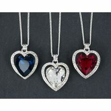 Equilibrium Crystal Heart & Surround Stone Pendant Necklace Sold Individually