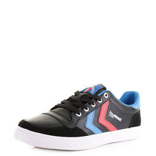 Mens Hummel Stadil Low Black Blue Red Sporty Casual Trainers Shoes Sz Size