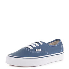 Womens Vans Authentic Navy Canvas Casual Lace Up Skate Shoes Trainers Sz Size