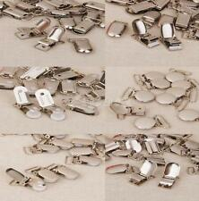 Lot Metal Buckles Pacifier Suspender Clips Webbing Dummy Strap Holder Craft Hook