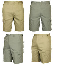 BNWT MENS CARABOU CARGO COMBAT SUMMER SHORTS ELASTICATED 2 COLOURS 32 TO 42 SALE