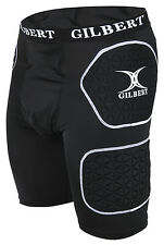 Gilbert Protective Shorts Rugby Union Leg Protection Guard Triflex Padded Short