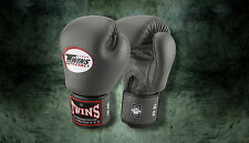MUAY THAI KICK BOXING GLOVES TWINS SPECIAL MMA 8 10 12 14 16 18 OZ BGVL-3 GREY