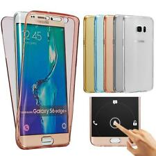Shockproof 360° Soft Clear Silicone Protective Case Cover for Samsung S7 S7 Edge
