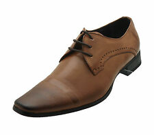 NEW Faranzi Mens Oxfords Brown Tan Dress Formal Casual Shoes Leather Lining