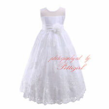 Lace Tulle Dresses Flower Girl Dress Wedding Bridesmaid Prom Communion Party NEW