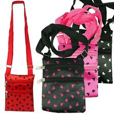 (WHOLESALE BULK LOT) Woman Girls Heart Valentines Shoulder Messenger Bag Purse