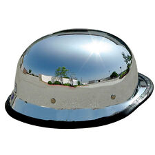 Adult Motorcycle Half Helmet Shorty Helmet Glossy Chrome Silver DOT Approved Hot