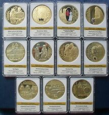 2013 PROOF LIMITED EDITION 24ct PLATED WILLIAM & KATE COINS 9,999 SETS + C.O.A