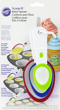 **WILTON** Scoop-It Cupcake Batter Spoons - Fill Cupcakes to 2/3 Full Everytime!