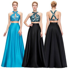 Sequined 2 Piece Sexy Long Prom Dress Formal Evening Ball Gown Homecoming Dress
