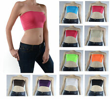 Sexy Strapless Tube BANDEAU BRA-Crop Yoga Top,Stretch,Casual,Easy,Solid ONE SIZE