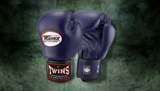 MUAY THAI KICK BOXING GLOVES TWINS SPECIAL MMA 8 10 12 14 16 18 OZ BGVL-3 NAVY B