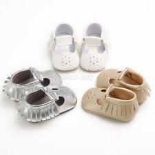 Newborns to 18Month Baby Girls Crib Pu Leather Shoes Summer Tassel Sandals Shoes