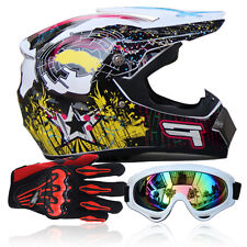 Unisex Adults S/M/L/XL DOT Motorcycle Racing Protective Full Face Safety Helmets