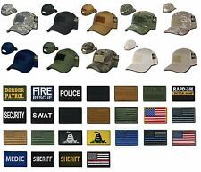 Tactical Constructed Operator Cap Hat w/Velcro Hook & Loop Patch T75 T91 Rapdom