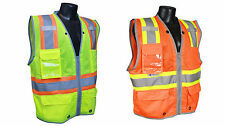 SV6H Class 2 Heavy Duty Two Tone Surveyor Traffic Safety Vest ANSI/ISEA 107-2010