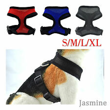 Pet Control Harness Dog /Cat Soft Black Blue Mesh Walk Collar Safety Strap Vest