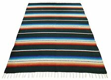 Classic Sarape Mexico Falsa Throw Blanket Fiesta Yoga Beach Heavy Premium Serape