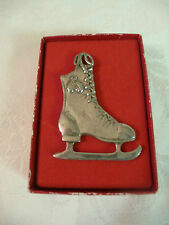 Seagull Pewter Ice Skate Ornament / Pendant / Charm Made in Canada orig. box