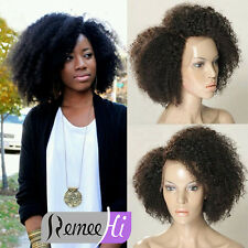 """12""""-24"""" Sexy Woman Front Full Lace Wig Afro Curl 100% Brazilian Remy Human Hair"""