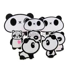 Cute Panda Cartoon Embroidered Applique Iron On Sewing Patch DIY Accessories