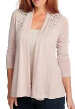 NEW Glitterscape® Sweater Knit Long Sleeved Studded Shoulder Open Cardigan