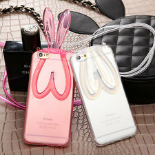 Cute Bunny Rabbit Ear Soft TPU Silicone Case Cover For Apple iPhone 5 6 6S Plus