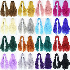 Hot Women Fashion Lady Anime Long Hair Curly Wavy Hair Party Cosplay Full Wig 45
