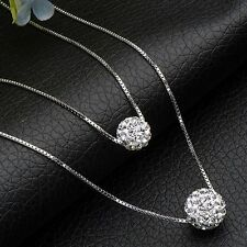 New Lady Fashion Charm Jewelry Chain Crystal Ball Pendant Crystal Necklace Gift