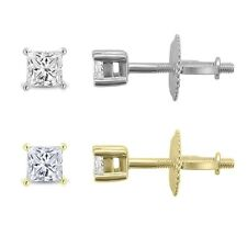 14k Gold 1/4ct TDW Diamond Stud Earrings (I, VS2). Huge Saving