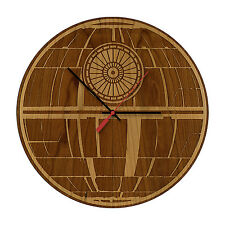 Death Star - Star Wars Laser Engraved Artisan Wood Clock in Cherry and Walnut