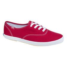 Keds - Womens Red Champion Trainers - Ladies Casual Footwear - Canvas Shoes