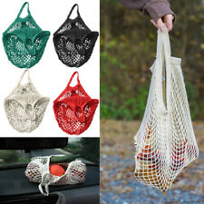 Mesh Bag ORGANIC COTTON STRING ECO SHOPPING Tote Short Handle Reusable Handbag