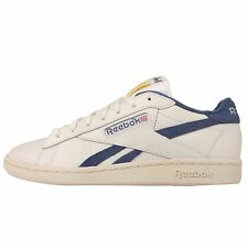 Reebok NPC UK TB Beige Navy Leather Mens Casual Shoes Trainers Sneakers V67565