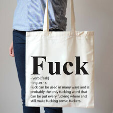 A Definition Of F Word Adult Novelty Shopping Cotton bags Canvas Tote Bag T94