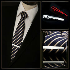 Hot Sell Stainless Steel Silver Tone Simple Necktie Tie Bar Clasp Clip Clamp Pin