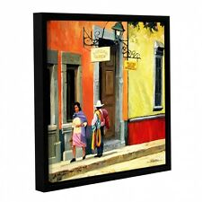 ArtWall Rick Kersten 'Streets Of Mexico' Gallery-wrapped Floater-framed Canvas.