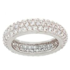 Nexte 14k White Gold over Silver CZ Cupola Eternity Band. Best Price