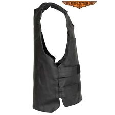 Men's Pull-Over Bullet Proof Replica Leather Vest - free shipping