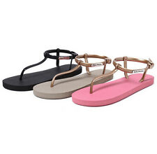 Women Summer Bohemia Flat Strap Shoes Beach Sandal Thong Slippers Flip Flop P62