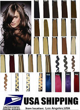 16-22Inch 20 40Pcs Straight & Wavy Tape In Human Hair Extensions Remy 45-70G